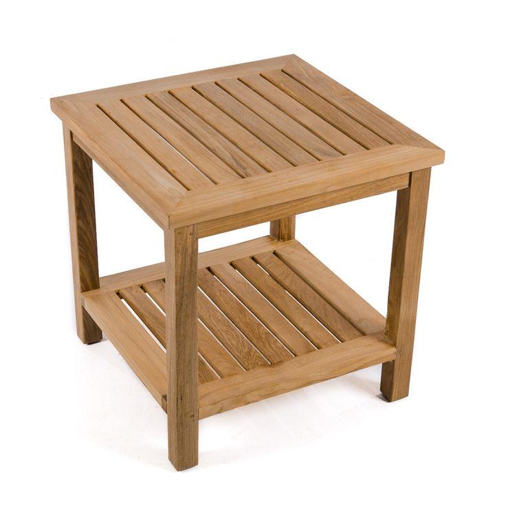 Veranda End Table With Shelf