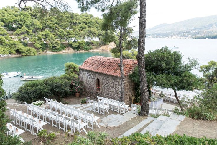 A Chapel by the water. An idyllic scenery for the perfect rustic wedding in Greece