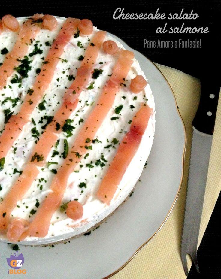 Cheesecake salato al salmone | Pane Amore e Fantasia!