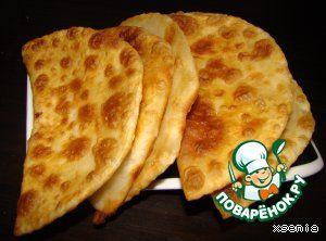 Лепешки с сыром (заварное тесто)