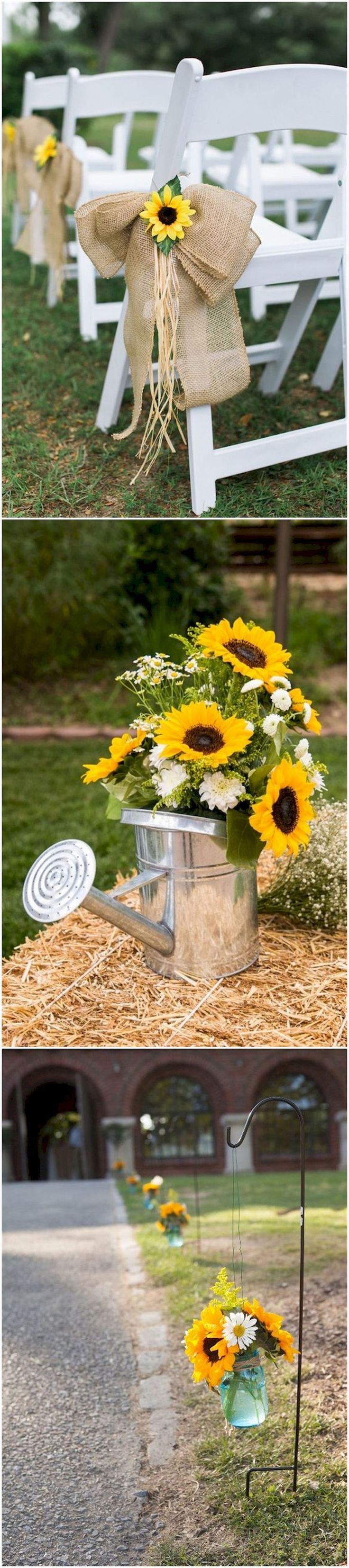 Cool 101+ Country Rustic Sunflower Wedding Theme Ideas https://bitecloth.com/2017/07/18/101-country-rustic-sunflower-wedding-theme-ideas/