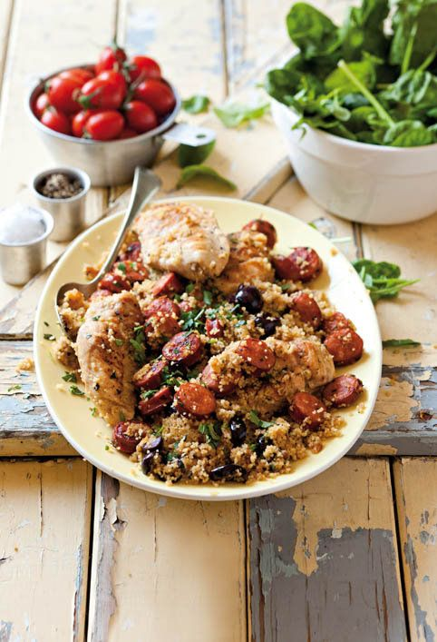 Chorizo and chicken couscous - Love this, it's got chorizo in it and you can never have too much chorizo!