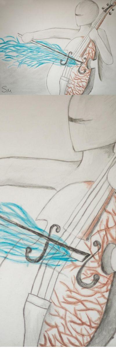 Cello art print, Cello art, canvas print, musical art print, cello gifts, cello player, Modern art, Music drawing, cello painting, cello http://etsy.me/2ipIcle #art #painting #blue #brown #housewarming #thanksgiving #celloart #cello #artprint #musicart #luxurygift #abstractart