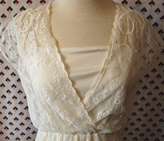 anni ' 60 Vintage Boho Bias tagliare camicia da di Calligramme
