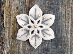 Снежинки из фетра. Идеи для творчества и шабллон