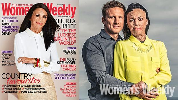 Because she is quite simply one of the most impressive women you will ever hope to meet, Turia Pitt makes her debut this month on our cover.