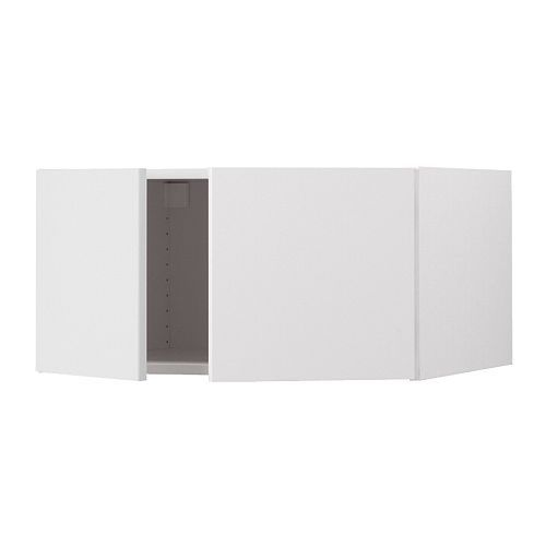 AKURUM Top cabinet to refrigerator - birch effect, Abstrakt high gloss white, 30x15x24 ..182...for window seats
