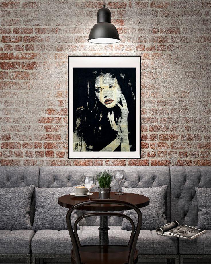 Green eyes, red lips -  Affordable Original fine art print by LaylaOzArt on Etsy