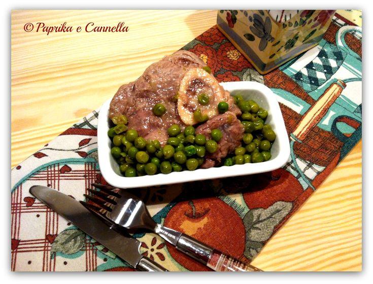 Ossibuchi e piselli, ricetta pentola a pressione I Paprika e Cannella