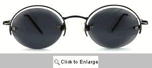 Saucer Floating Frame Sunglasses - 547 Gold