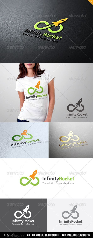 Infinity Rocket - Logo Design Template Vector #logotype Download it here: http://graphicriver.net/item/infinity-rocket/6601080?s_rank=378?ref=nexion