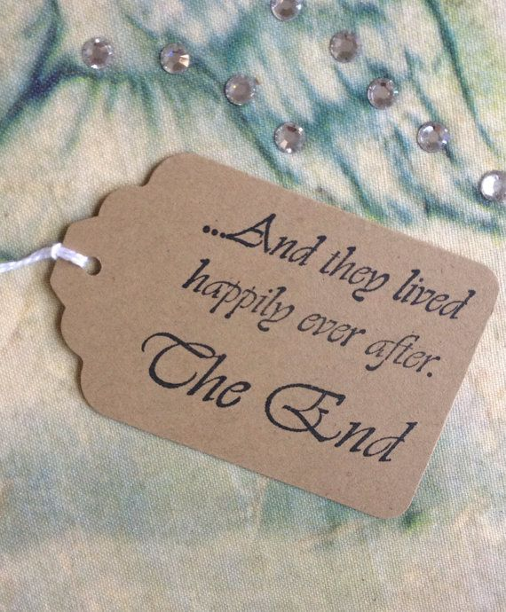 Happily Ever After Wedding Favor Tags / Fairytale by isidorainlove