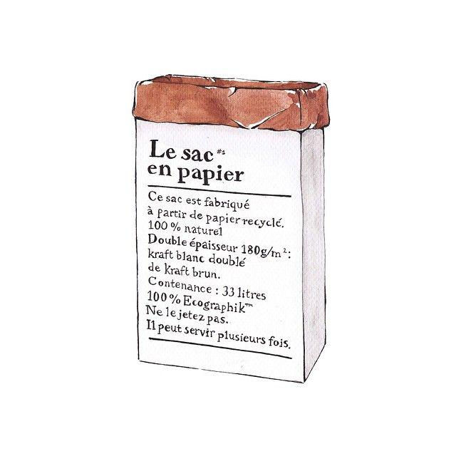 ♥ Le sac en papier illustration