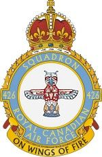 426 Squadron Royal Canadian Air Force crest.