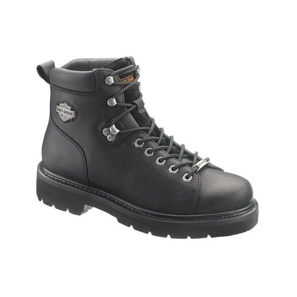 Men's Harley-Davidson Barton ($160) ❤ liked on Polyvore featuring men's fashion, men's shoes, men's boots, black, hiking boots, mens leather boots, mens boots, mens fur lined shoes, mens black leather boots and mens black hiking boots