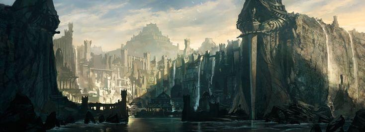 The City of Shakar, an art print by Noah Bradley - INPRNT