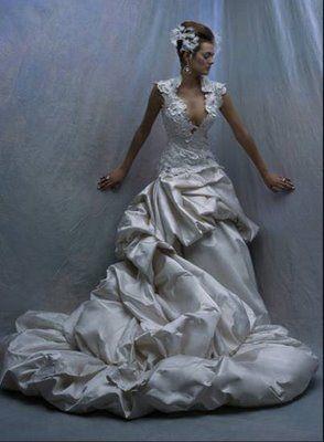spanish wedding dresses - Google Search. I like the top portion.