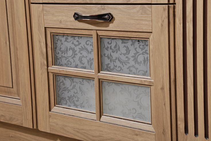 cabinet with glass doors oppein   Line Type Kitchen Cabinet with PP F