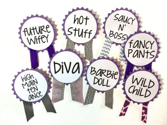 CUSTOM Bachelorette Party Pins Name Tags By LetsWearDresses