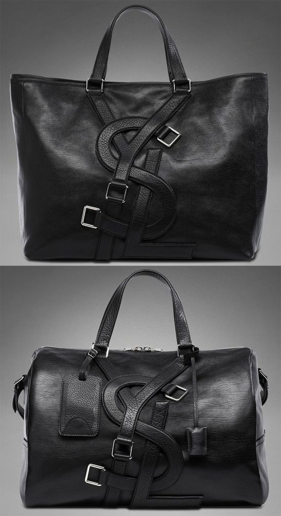 """I think women would love these in their closet.  """"Yves Saint Laurent's Vavin bags are one of the most memorable pieces from their men's collection because of the large YSL logo strap detail that covers the front."""" narrative from blog #PurelyInspiration"""