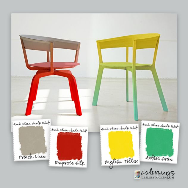 Colorways with Leslie Stocker » Modern Chalk Paint Use Chalk Paint in bold color combinations for a contemporary modern look