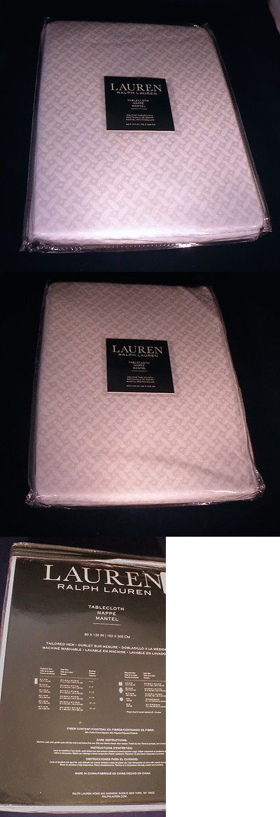 Tablecloths 20663: Nwt Lauren Ralph Lauren Oblong Tablecloth 60 X 120 - White -> BUY IT NOW ONLY: $59.99 on eBay!