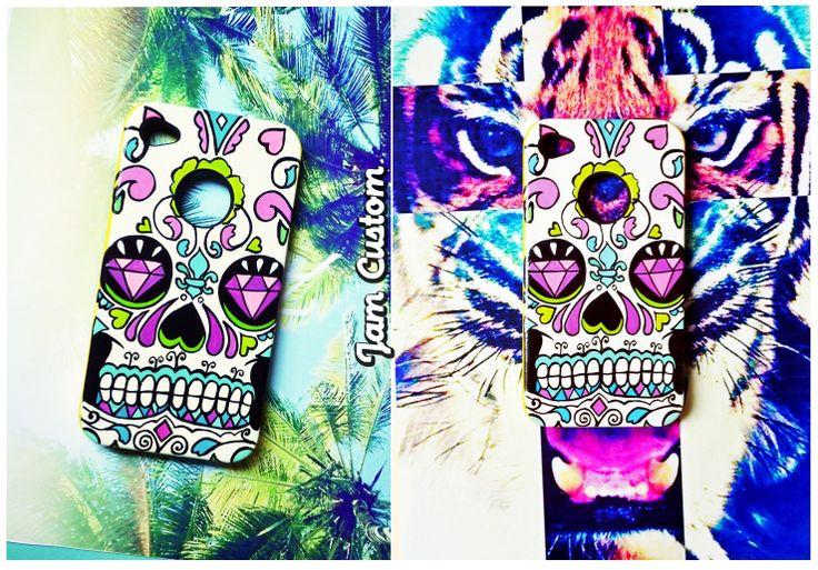 Case Iphone 4 // Design Mexican Skull // H A N D M A D E A R T