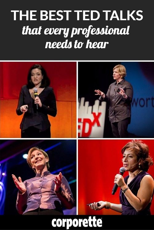 TED is known as being like a free Harvard -- but there are SO many talks it can be overwhelming. These are some of our favorite TED talks for working women.