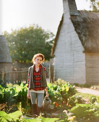 i just love thinking about being on a farm, in a garden with an old fashioned watering can and some good backlight.