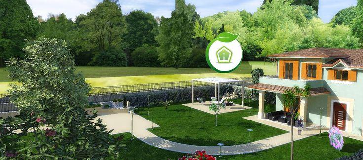 3d Garden Design - design and services: villa exterior rendering #garden #project #outdoor