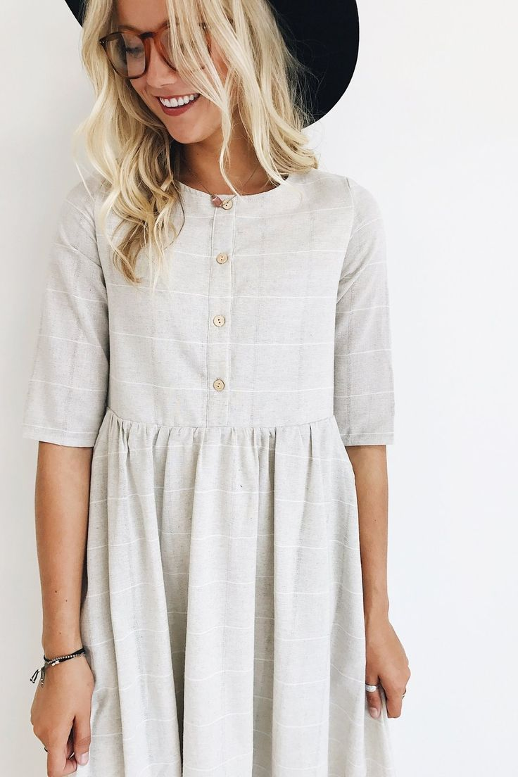 Clarice Button Dress | Nursing-Friendly Dress by ROOLEE