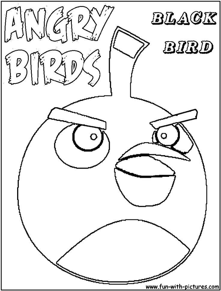 Angrybirds Blackbird Coloring Page angrybirds John's