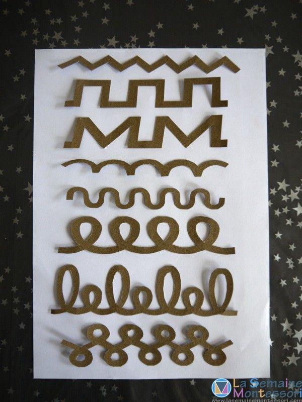 Des cartes rugueuses pour découvrir les formes de base de l'écriture... Faciles à fabriquer, elles sont précieuses pour travailler le geste d'écriture