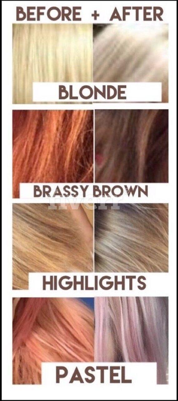 Kiss My Brass Toning Shampoo Additive Make Best Purple Shampoo Customized Just 4u Cure Brassy Brown Tone Blonde Highlights Gray Hair In 2021 Brassy Blonde Purple Shampoo Baking Soda Shampoo