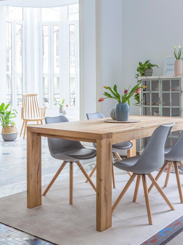 Kenay  appartement cozy pour famille happy Father, Salons and Tables - table de salle a manger grise