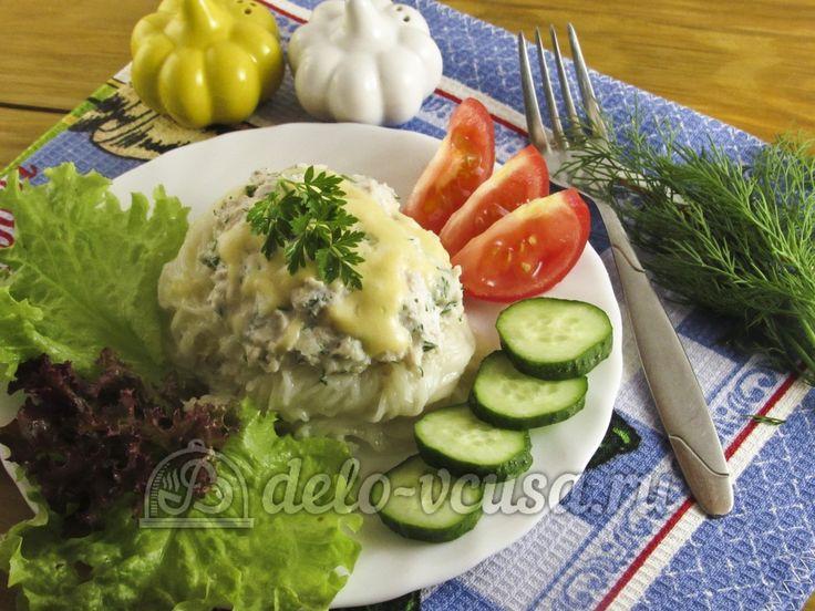 Гнезда из макарон с куриным фаршем #макароны #фарш  #рецепты #деловкуса #готовимсделовкуса