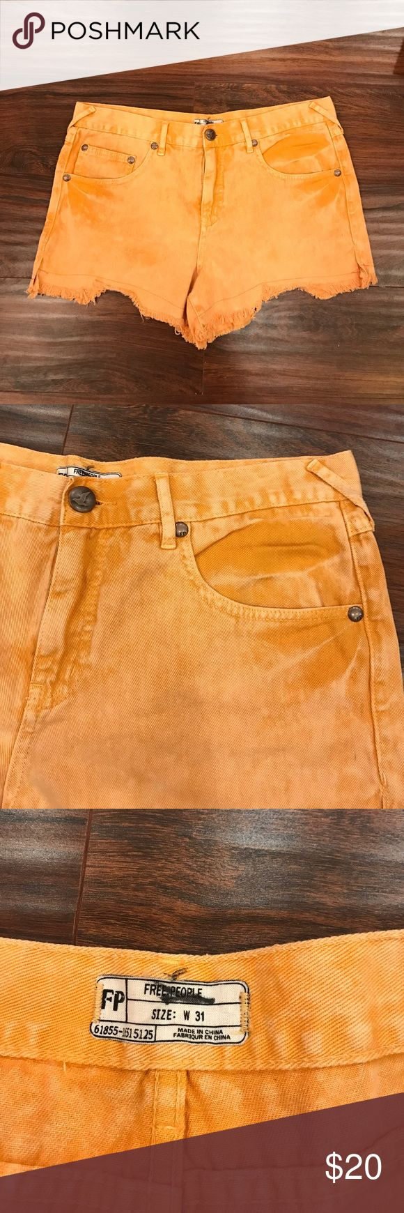 Free People Cut off shorts size 31 Size 31. Women's cut off shorts. Brand new without Tags. Orange vintage wash. Free People Shorts Jean Shorts