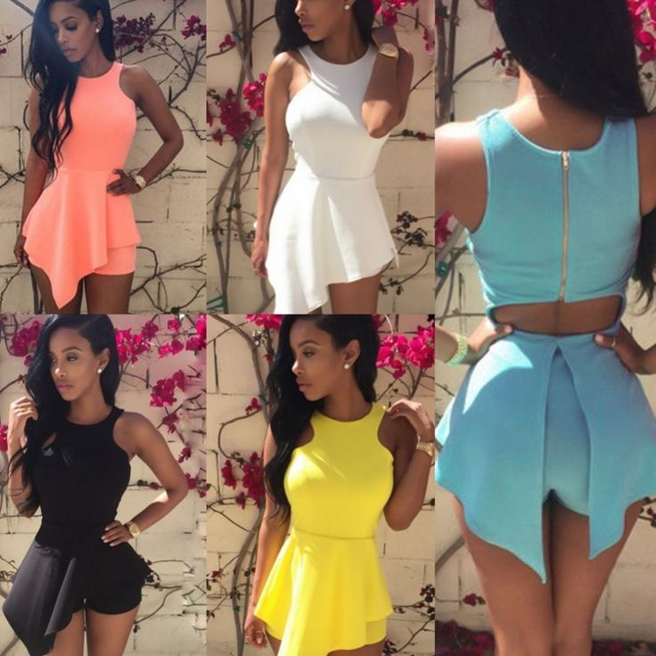 Sexy Womens Sleeveless Cocktail Clubwear Bodycon Jumpsuit Rompers Shorts Dress #Unbranded #Jumpsuit