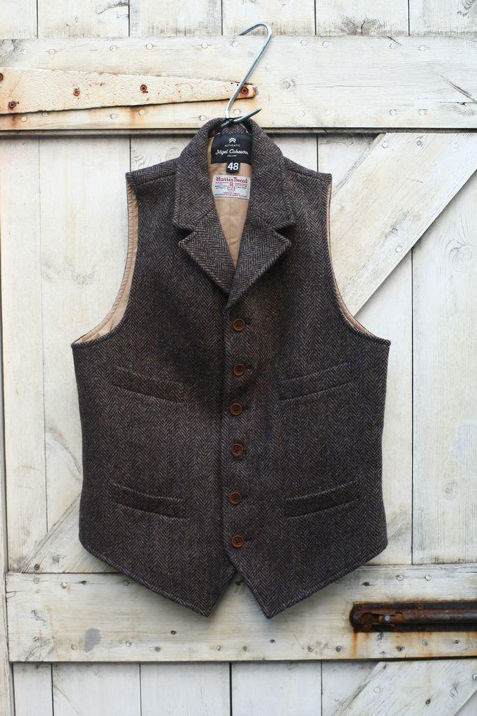 Nigel Cabourn Harris Tweed Vest