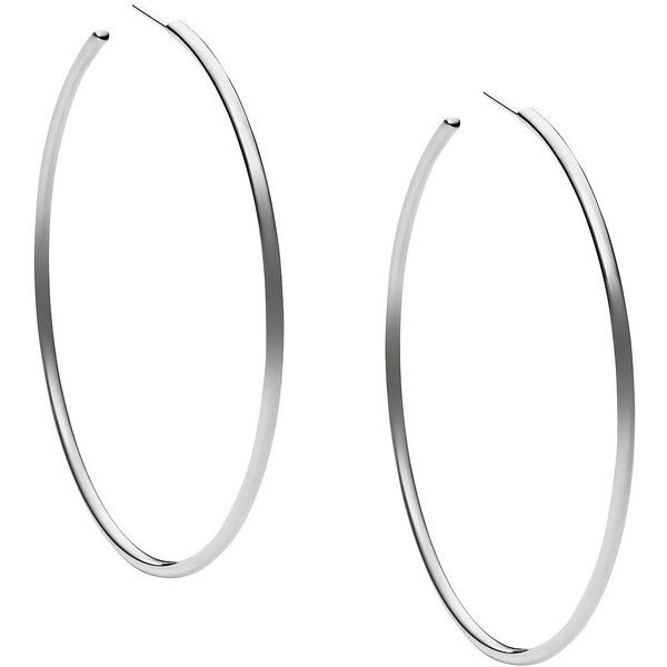 Michael Kors -Tone Hoop Earrings (255 PLN) ❤ liked on Polyvore featuring jewelry, earrings, accessories, brincos, silver, stainless steel jewellery, michael kors, lightweight hoop earrings, silver tone earrings and stainless steel hoop earrings