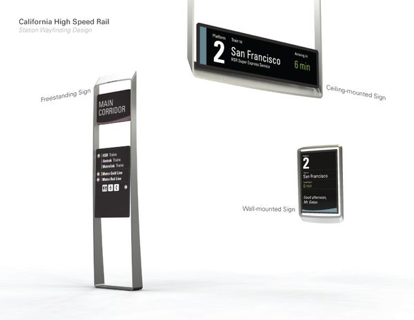 Wayfinding Design for California High Speed Rail by Johan Loekito, via Behance