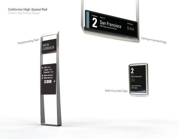 Wayfinding Design for California High Speed Rail by Johan Loekito, via Behance
