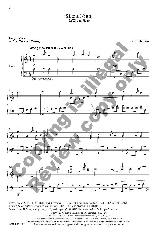 Silent Night (SATB) arr. Eric Nelson  J.W. Pepper Sheet Music