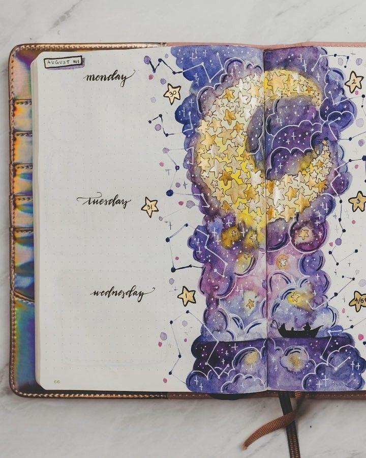 25 wunderschöne August Bullet Journal-Themen, die Sie inspirieren!