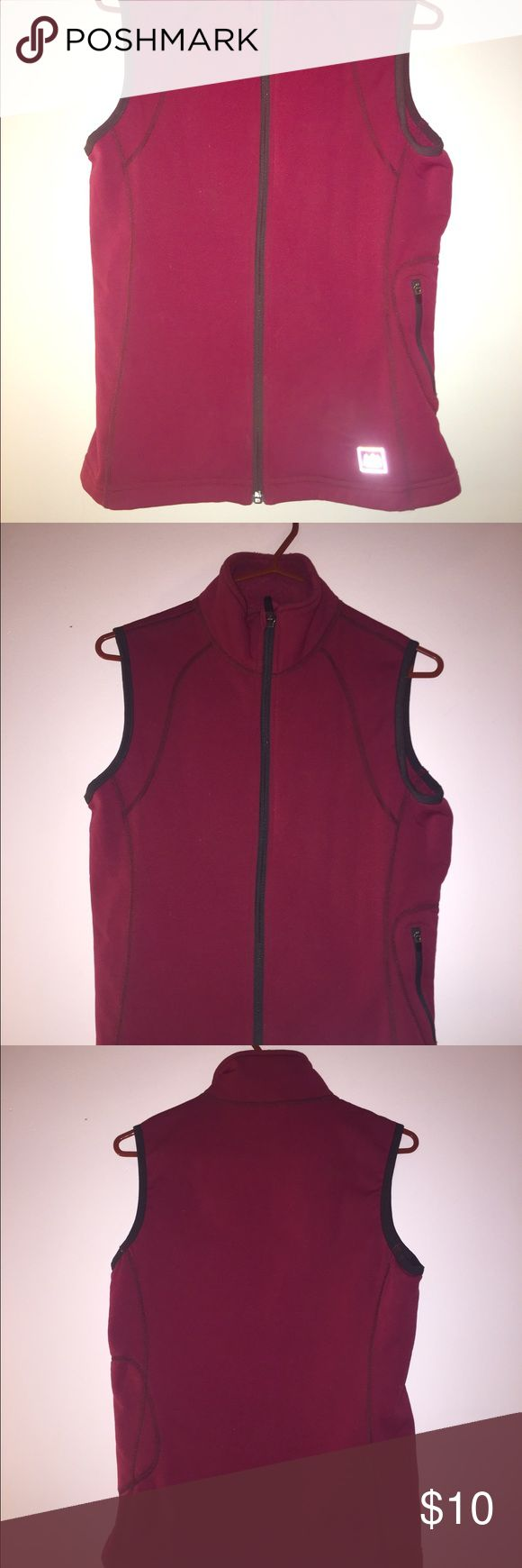 Women's red polyester zip up vest REI women's red polyester layering zip-up vest with side pocket. REI Jackets & Coats Vests