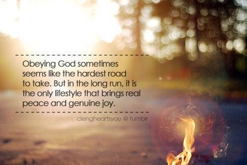Obeying God | Faith & Inspirational words | Pinterest