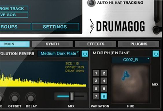 "Drumagog 5 is a software plug-in that replaces acoustic drum tracks with your choice of other samples. But Drumagog also offers the ""secret weapons"" top mix engineers use to give hit records polish and power, including reverb, a built-in synth, exclusive Morph