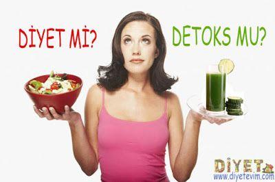 detoks yapmak diyet yapmak