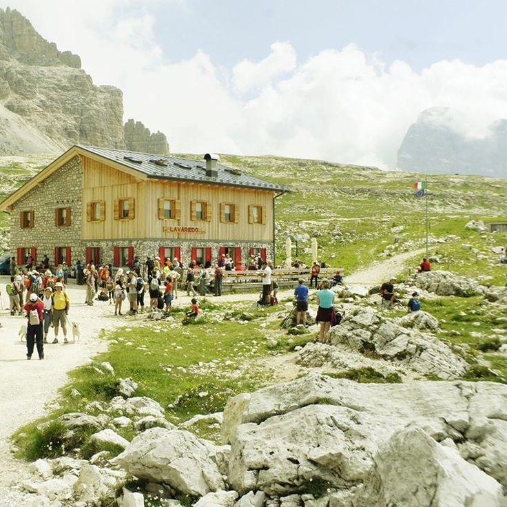 Another amazing stone house restaurant near the Drei Zinnen swarming with tourists. #Dolomiti #Dolomites #Tirol #Italy