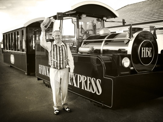 Owner & driver of the Hawke's Bay Express welcoming all aboard :)